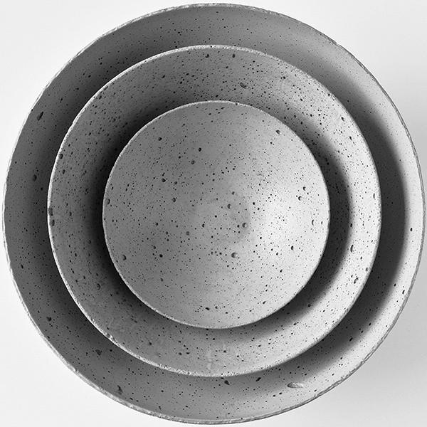 Betonová mísa Gravelli M - světle šedá
