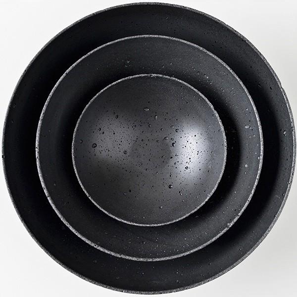 Betonová mísa M - černá