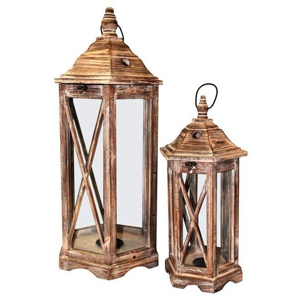 Dřevěná lucerna Bellesa M