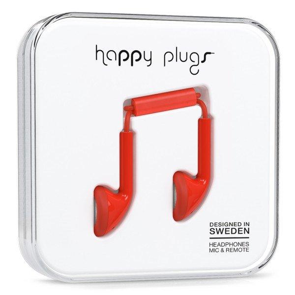 Sluchátka Happy Plugs Earbud - červená