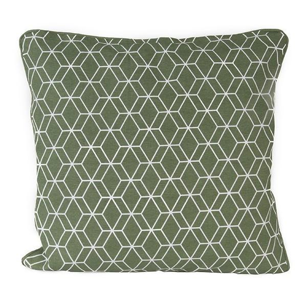 Polštář Hexagon čtvercový – zelený