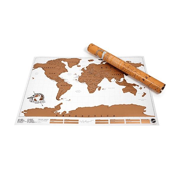 Luckies stírací mapa světa - M