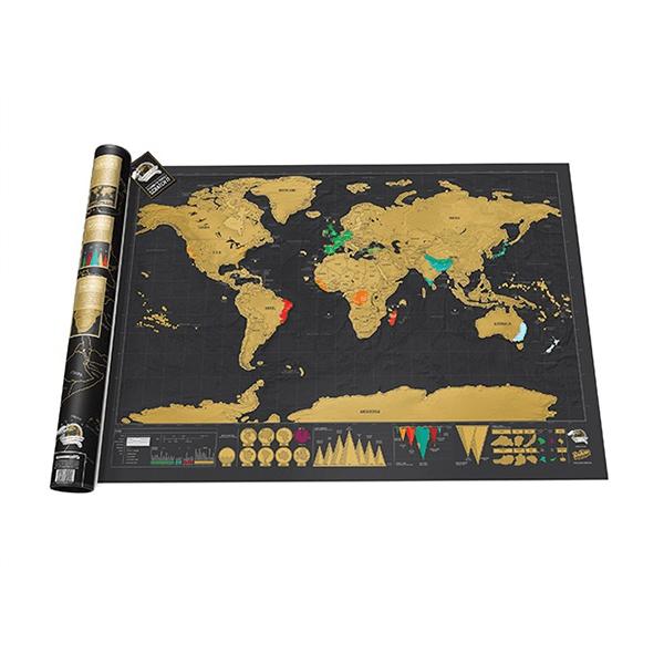 Stírací mapa DELUXE TRAVEL