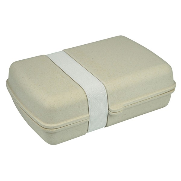 Bambusový box na jídlo s gumičkou - bílý