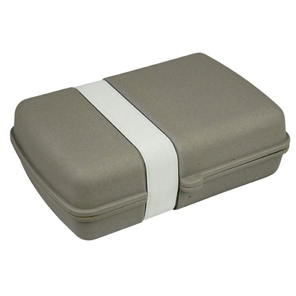 Bambusový box na jídlo s gumičkou - šedý