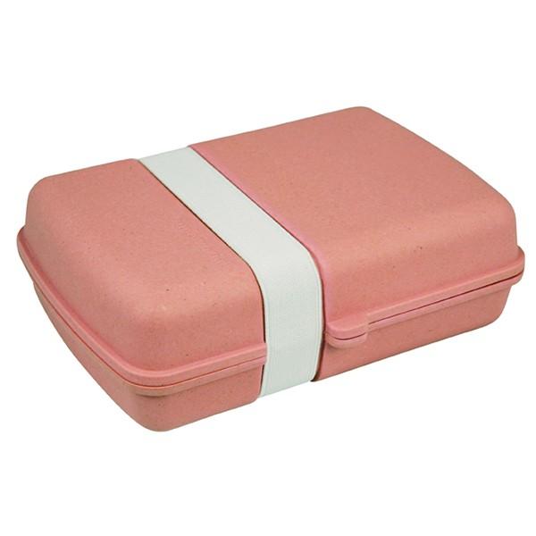 Bambusový box na jídlo s gumičkou - růžový