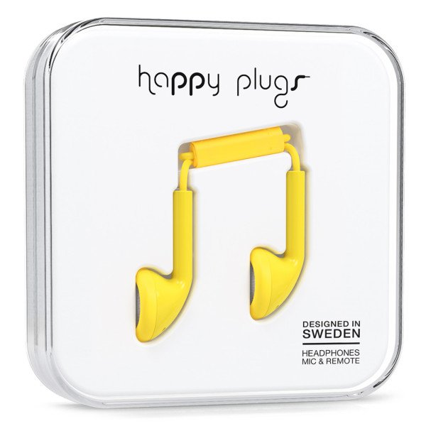Sluchátka Happy Plugs Earbud - žlutá