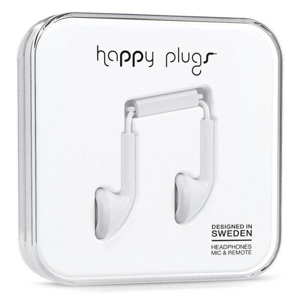 Sluchátka Happy Plugs Earbud - bílá