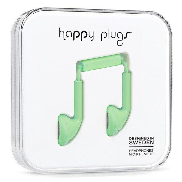 Sluchátka Happy Plugs Earbud - mentolová