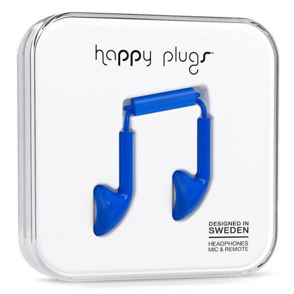 Sluchátka Happy Plugs Earbud - kobaltová