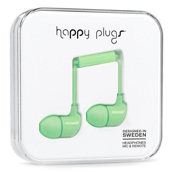 Sluchátka Happy Plugs In-Ear - mentolová