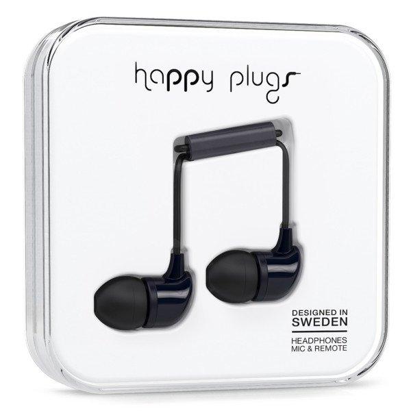 Sluchátka Happy Plugs In-Ear - černá