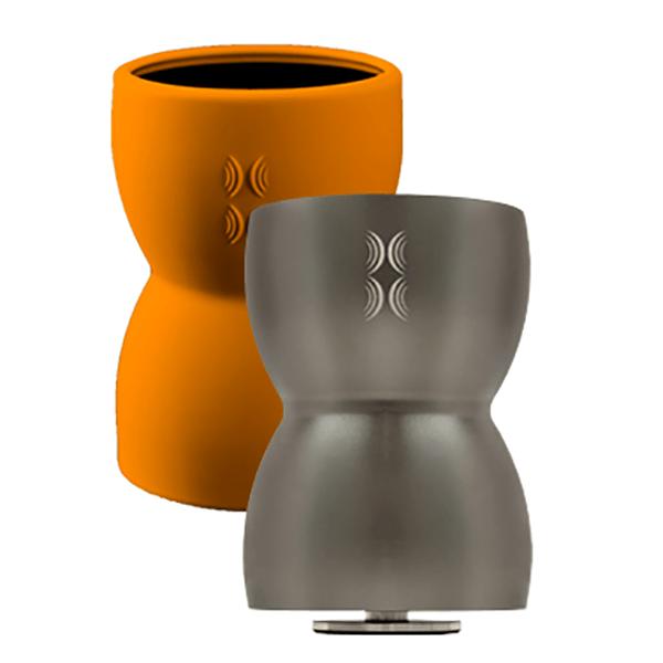 Bass Egg - bezdrátový vibrační reproduktor - stříbrný + oranžový obal