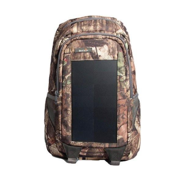 Birksun batoh se solární nabíječkou Mossy - černá