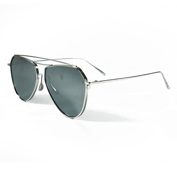 Sluneční brýle Mojito - stříbrné s černými skly