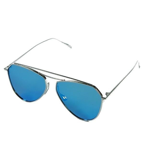 Sluneční brýle Mojito - stříbrné s modrými skly