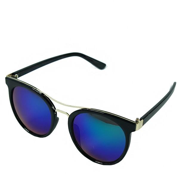Sluneční brýle Caribic - černé s modro-zelenými skly
