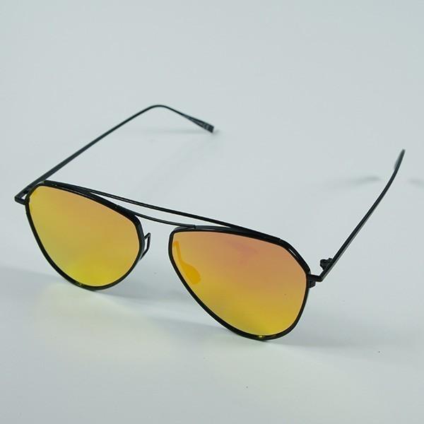 Sluneční brýle Mojito - černé s oranžovými skly
