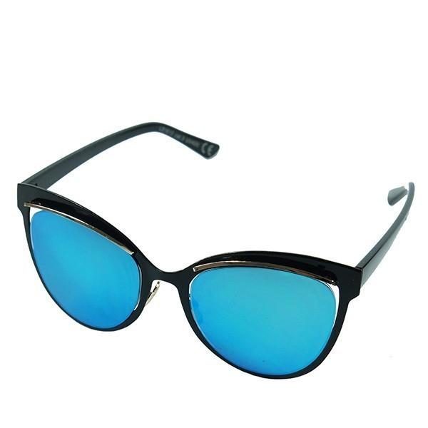 Sluneční brýle San Andreas - černé s modrými skly