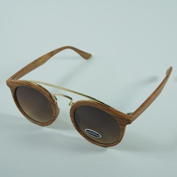 Sluneční brýle Palm Springs - dřevo s hnědými skly