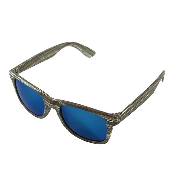 Sluneční brýle Woodies - světlé dřevo s modrými skly
