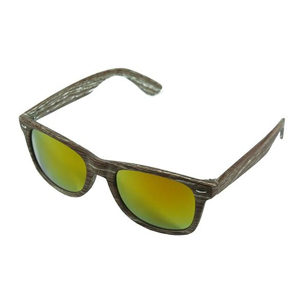 Sluneční brýle Woodies - světlé dřevo s oranžovými skly