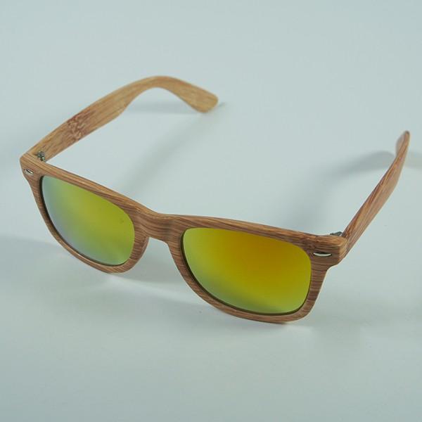Sluneční brýle Woodies - dřevo s oranžovými skly
