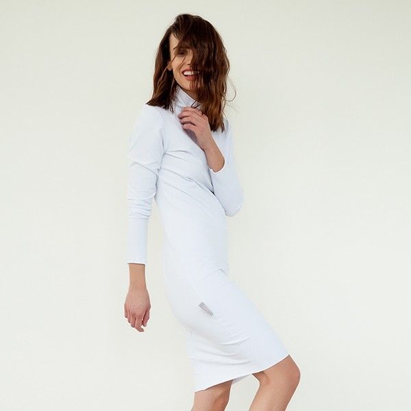 #mblm Collection rolákové šaty S - bílé