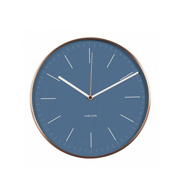 Nástěnné hodiny Minimal – modré