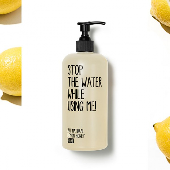 Mýdlo Citron & Med - Stop the water while using me!