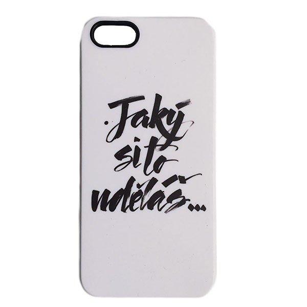 Kryt na iPhone 5/5S - Jaký si to uděláš... - bílý
