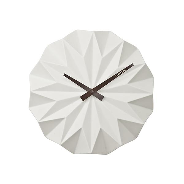 Nástěnné hodiny Origami - bílé