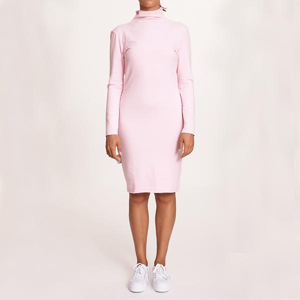 #mblm Collection rolákové šaty S - růžové