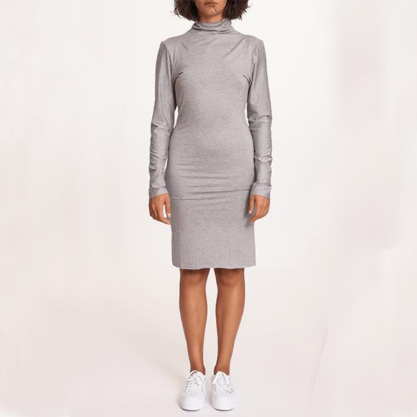#mblm Collection rolákové šaty M - světle šedé