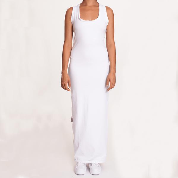 #mblm Collection dlouhé šaty OneSize - bílé