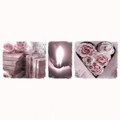 Obraz na plátně - růže a svíce