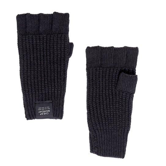 Černé bezprsté rukavice Skull Cheap Monday