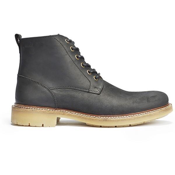 Černé kožené boty Avenue boot Makia - 40