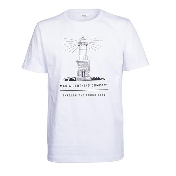 Bílé tričko Lighthouse Makia - M