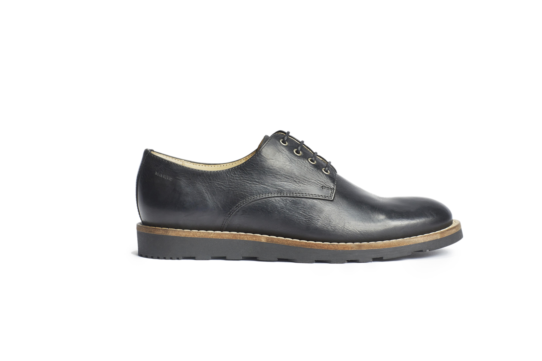 Černé kožené boty Parkway Makia - 42