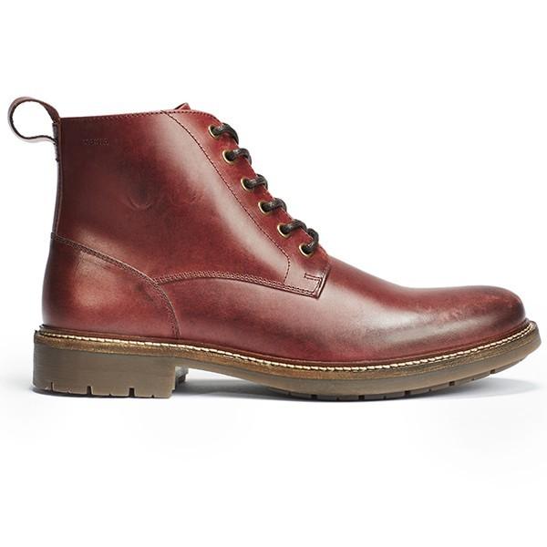 Burgundy kožené boty Avenue boot Makia - 41
