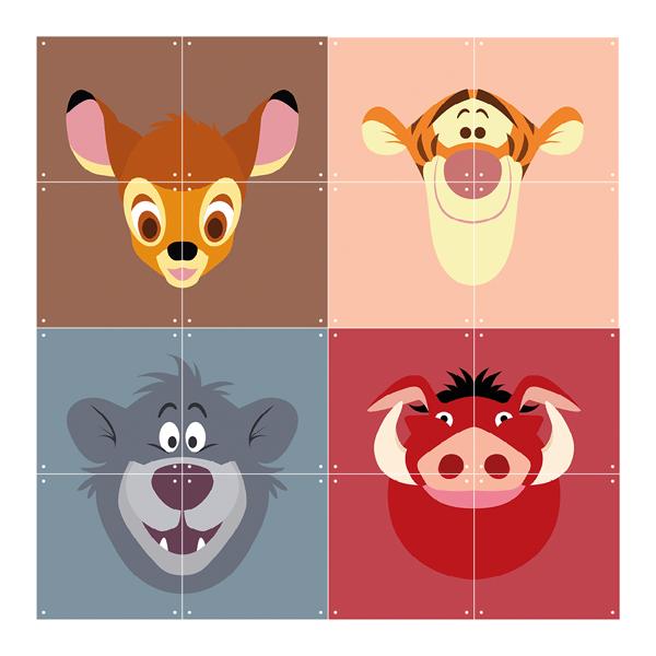 Skládaný obraz IXXI - Disney All Stars: Bambi, Tigger, Baloo, Pumba