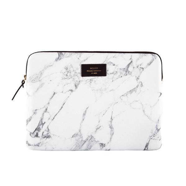 """Pouzdro na notebook 13"""" - White Marble"""