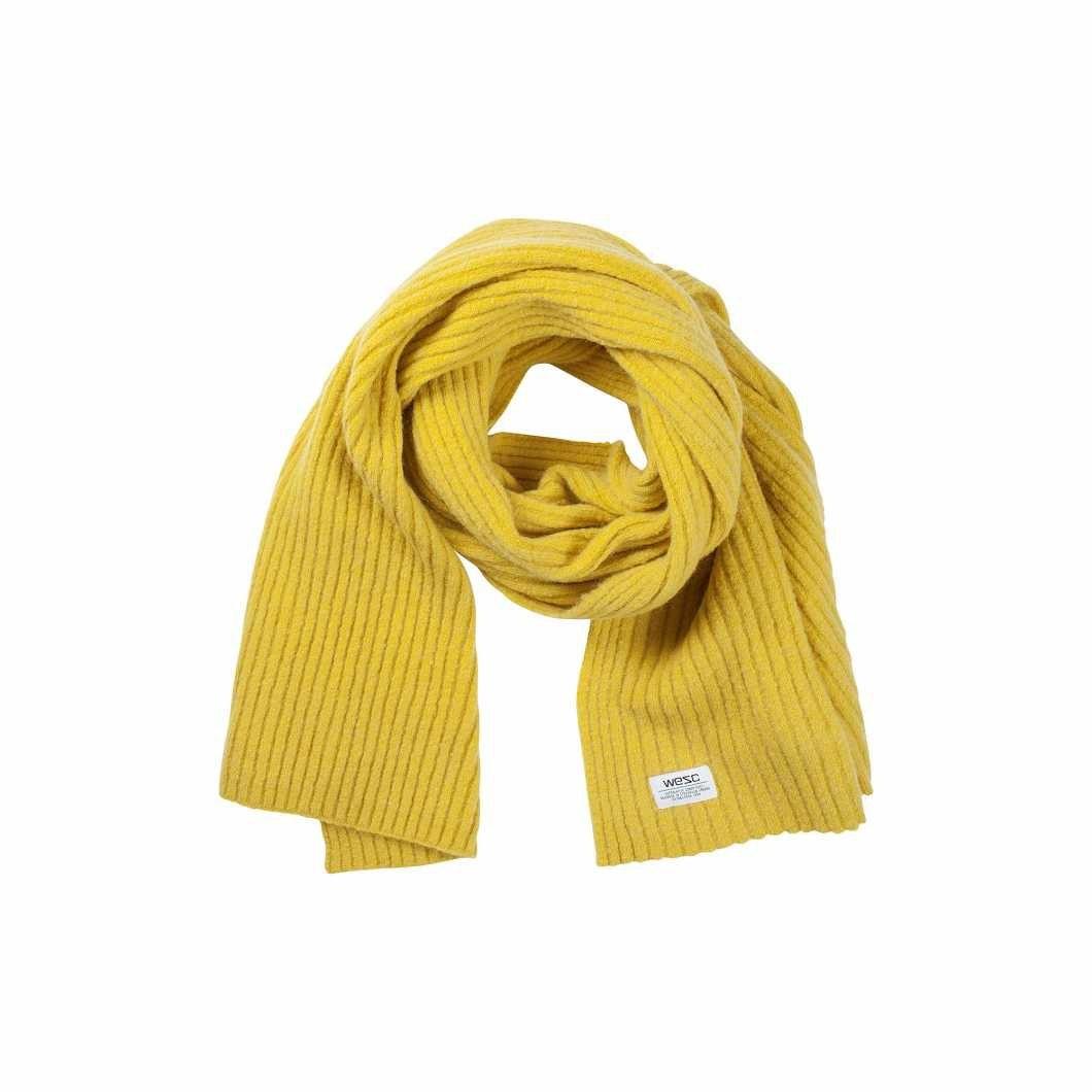 Žlutá pletená šála Ara