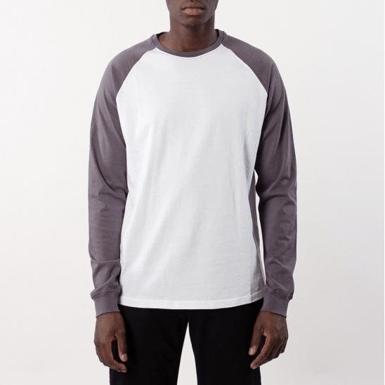 Bílé triko s dlouhým rukávem Barclay S