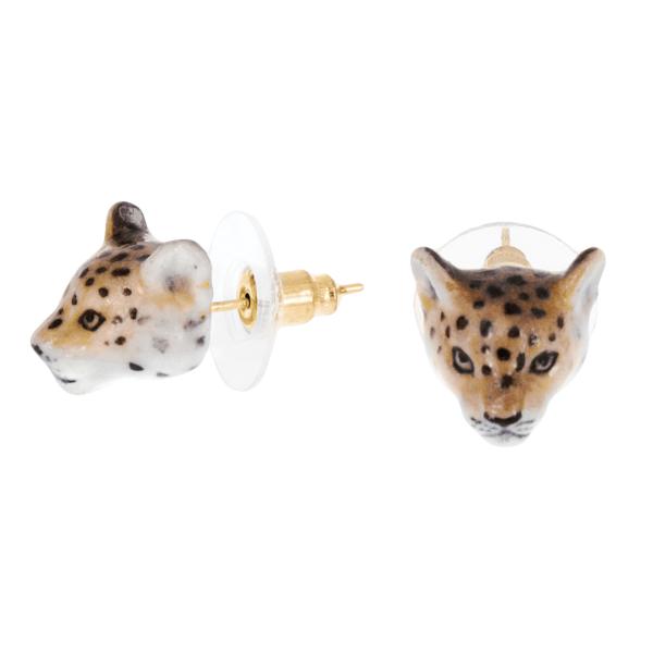 Zlaté náušnice Gepard mini