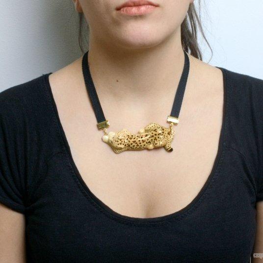 Zlatý náhrdelník Leopard