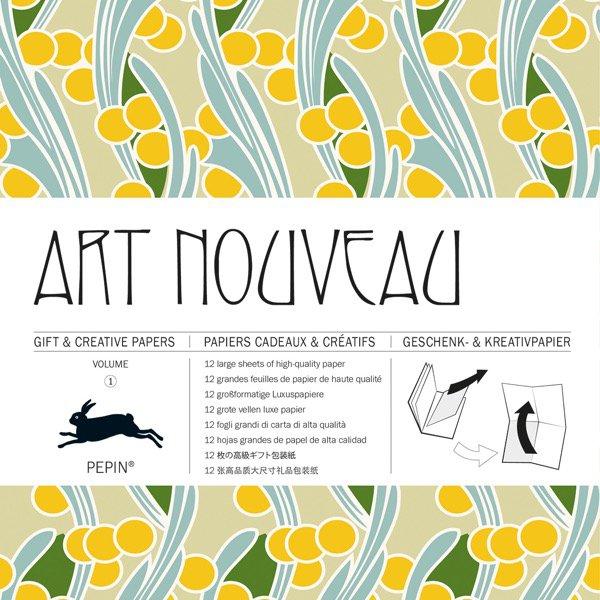 12 unikátních balicích papírů Art Noveau
