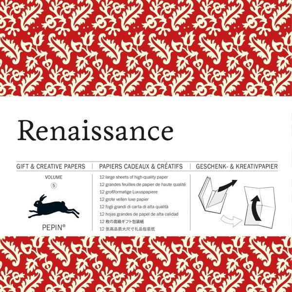 12 unikátních balicích papírů Renaissance