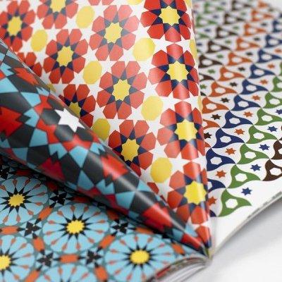 12 unikátních balicích papírů Arabian designs